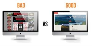 bad vs good website design